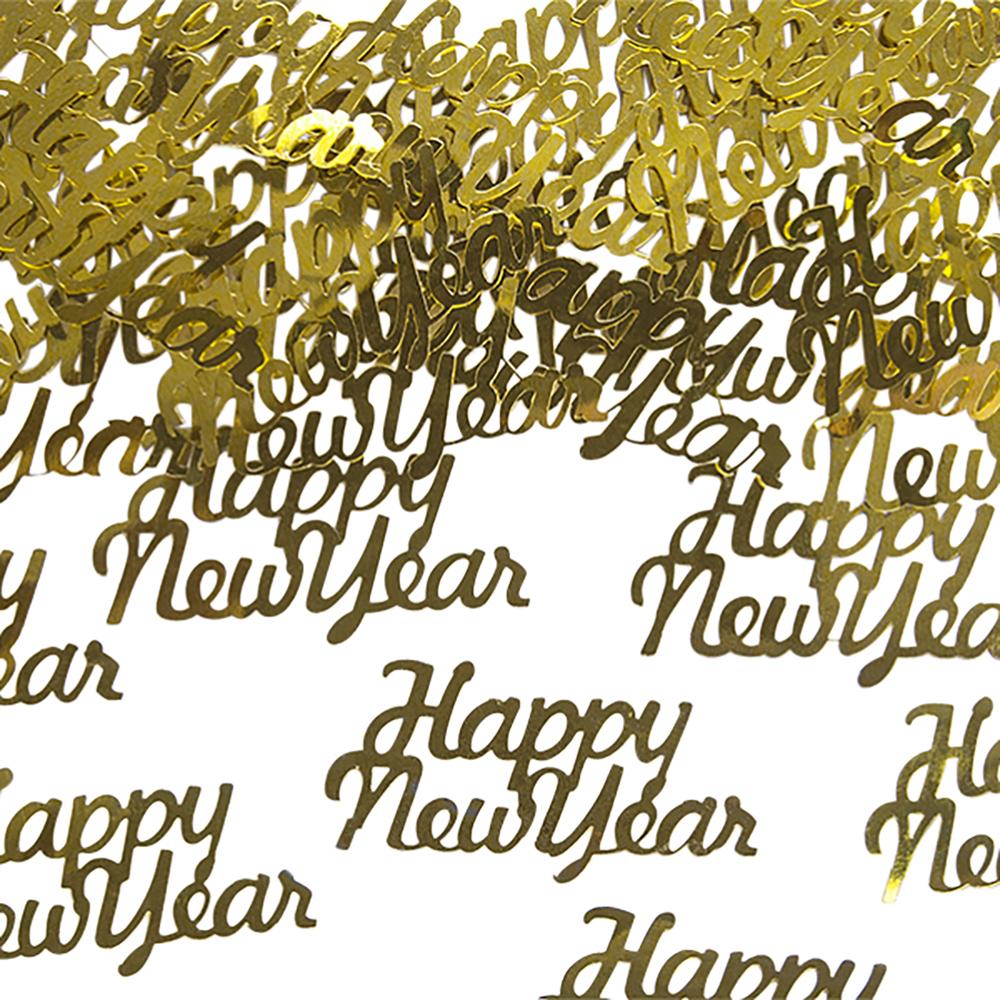 Konfetti Guld Happy New Year