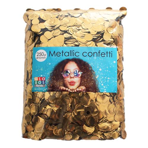 Konfetti Guld Metallic Runda - 250 g