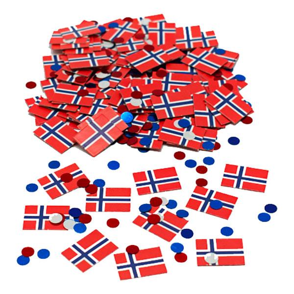 Konfetti Norska Flaggan
