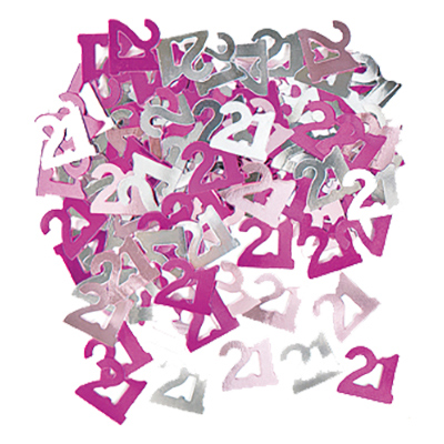 Konfetti Rosa/Silver 21 - 14 gram   Hem//Festartiklar//Dekoration//Konfetti   Partyoutlet