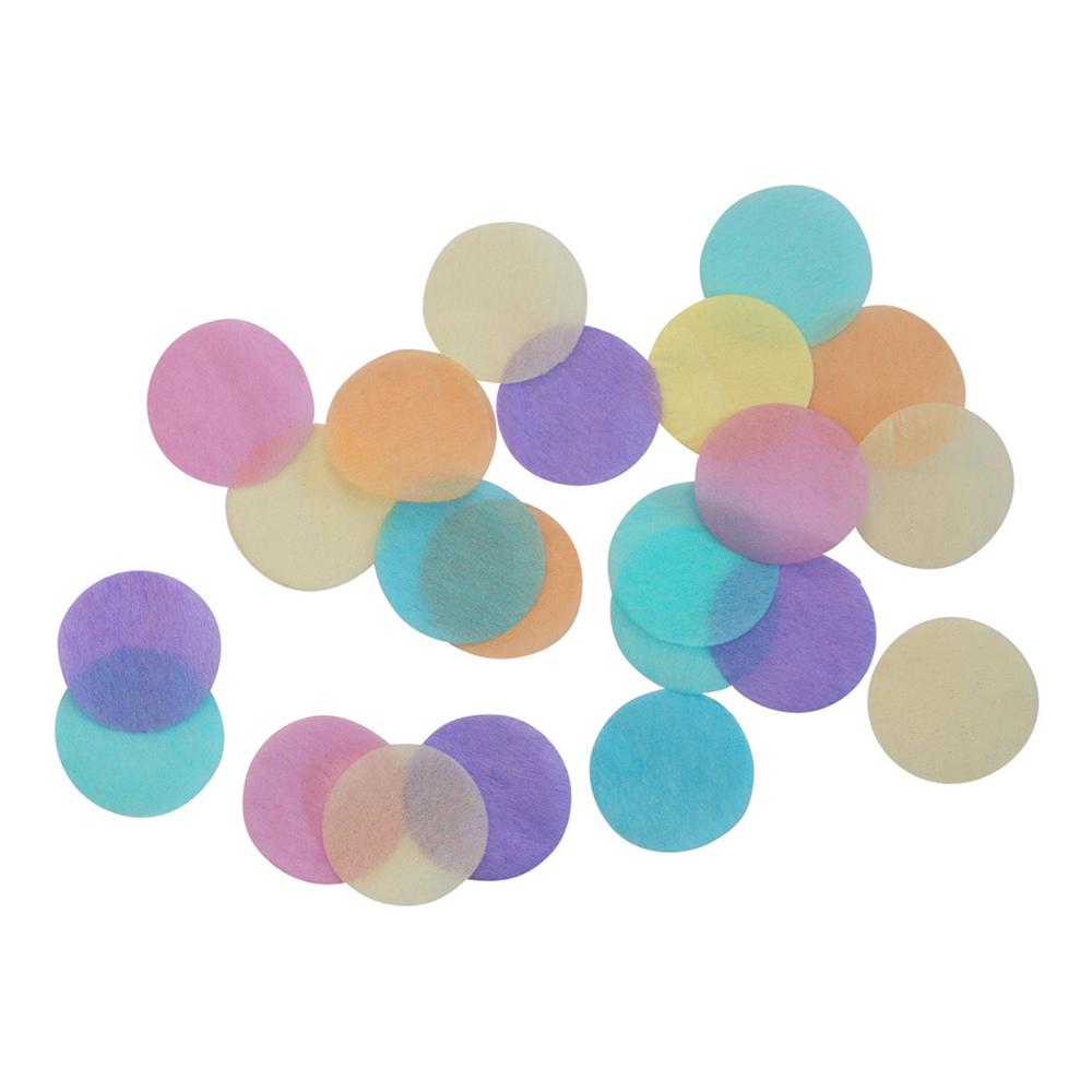 Konfetti Rund Pastell Regnbåge - 15 gram