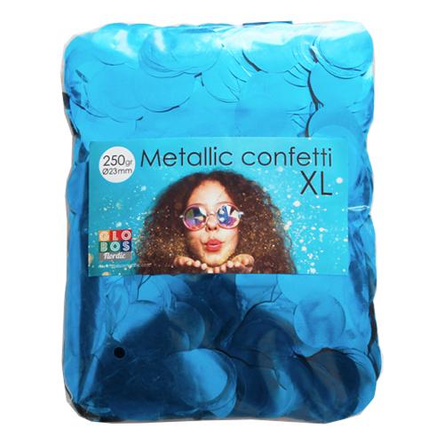 Konfetti Stora Blå Metallic - 250 gram