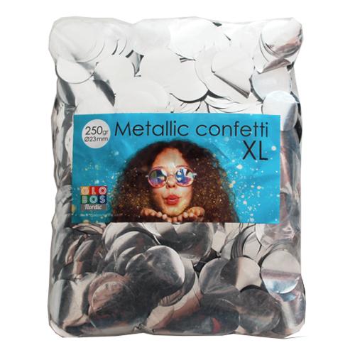 Konfetti Stora Silver Metallic - 250 gram