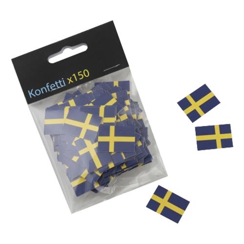 Konfetti Svenska flaggor