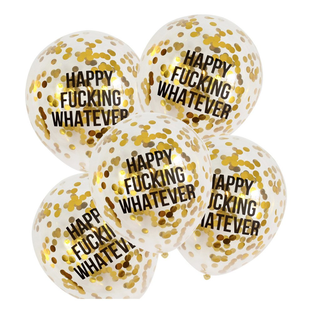 Konfettiballonger Happy Fucking Whatever