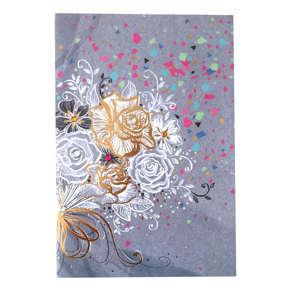 Kort Blomsterkonfetti