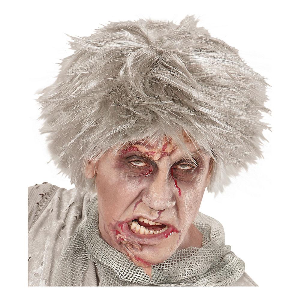 Kort Zombie Grå Peruk - One size