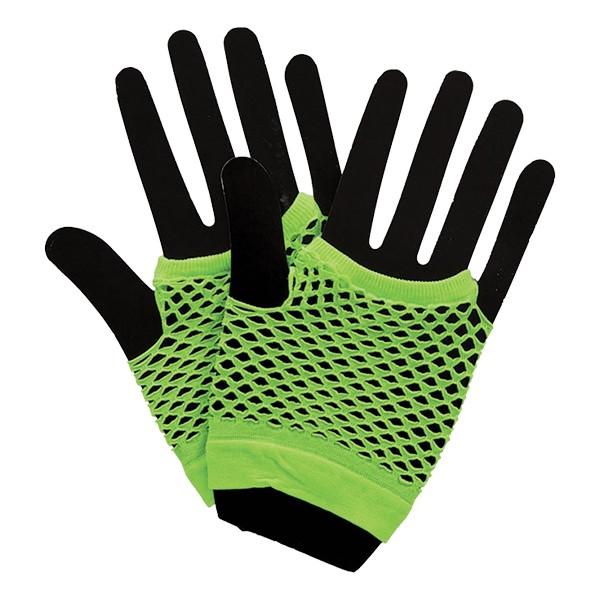 Korta Neon Näthandskar - Grön