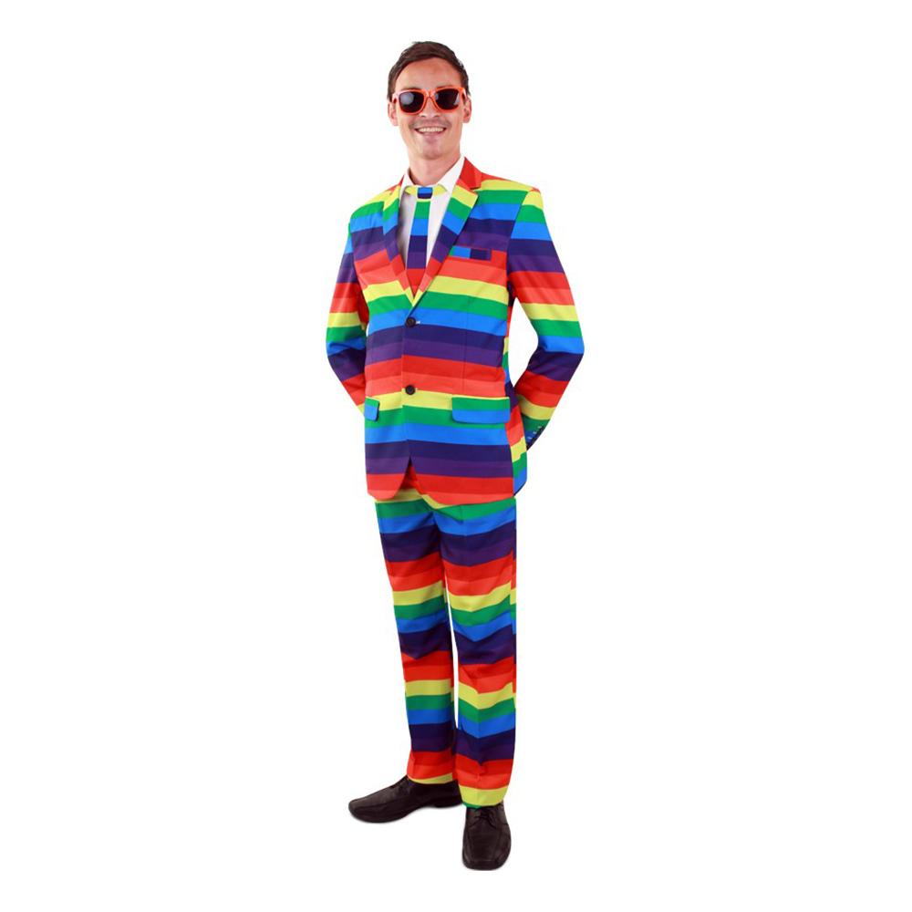 Kostym Rainbow Herr - 62