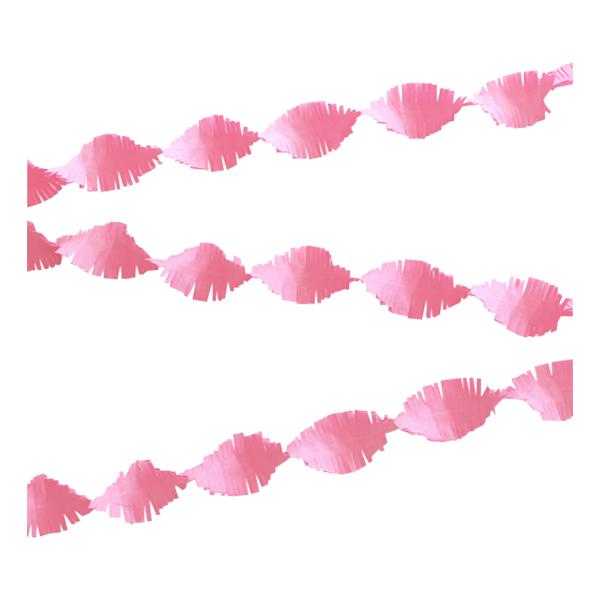 Kräppgirlang Babyrosa - 6 meter
