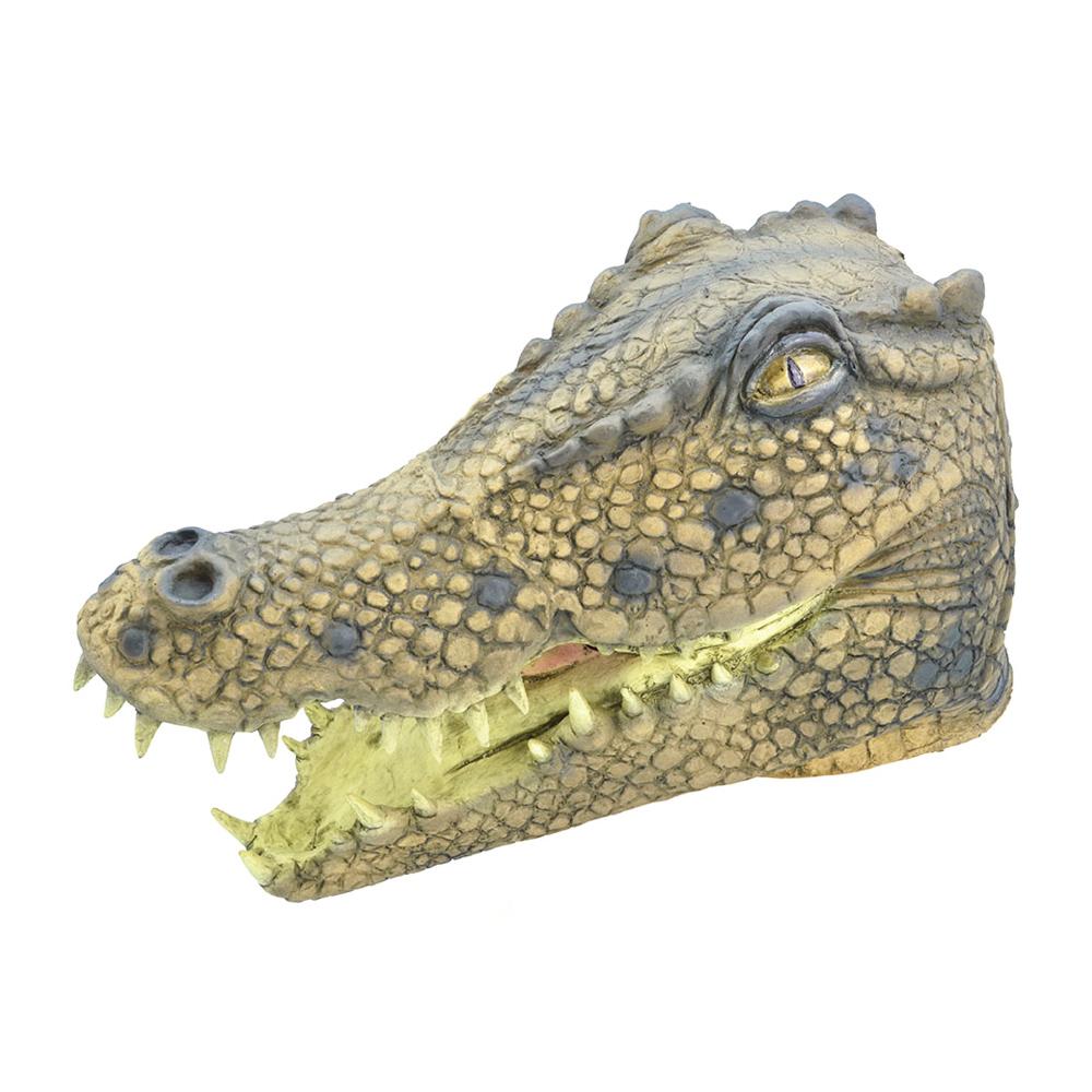 Djurmasker - Krokodilmask i Gummi - One size