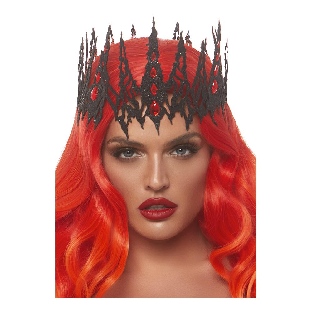 Krona Svart Glittrig Deluxe - One size