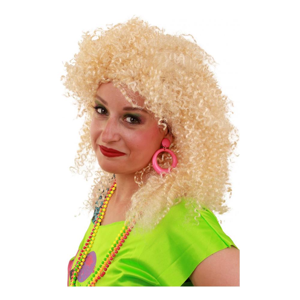 Krullig 80-tals Peruk Blond - One size