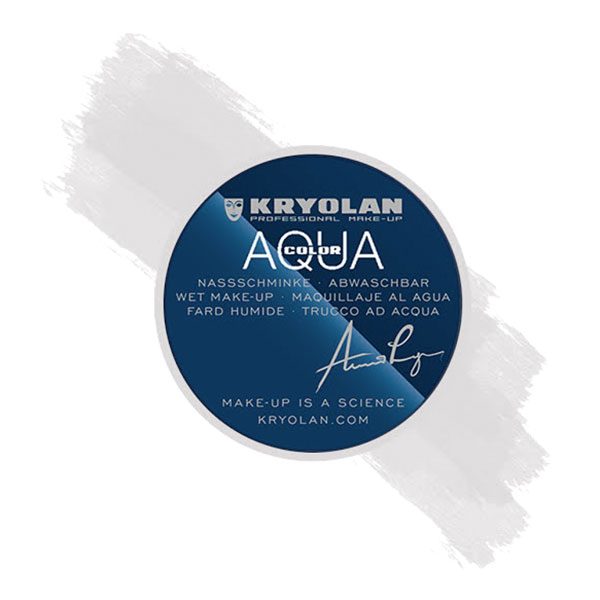 Kryolan Aquacolor Smink 55 ml - Vit