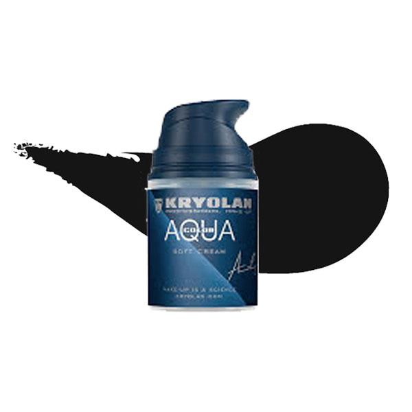Kryolan Aquacolor Soft Cream - Svart