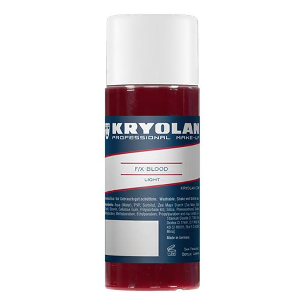Kryolan F/X Blod - 50 ml Klarröd