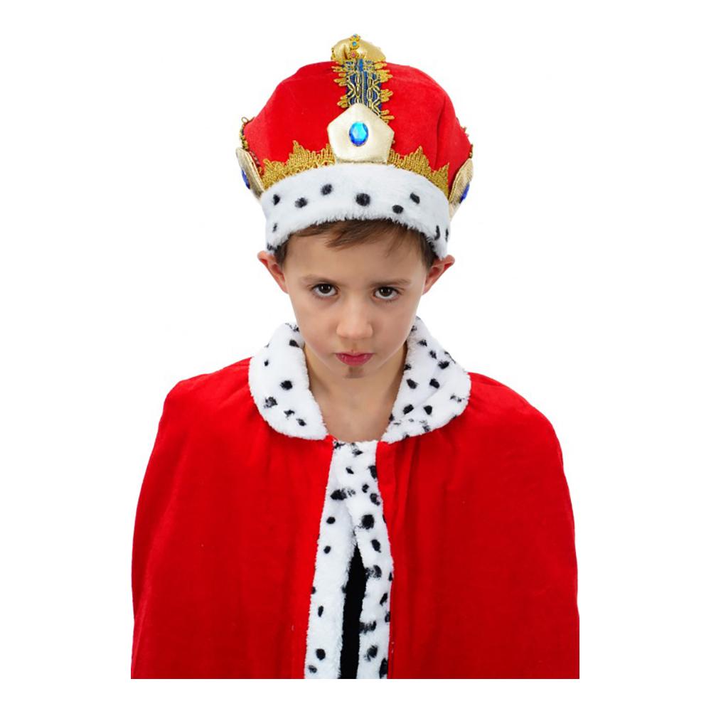Kungahatt i Sammet Barn - One size
