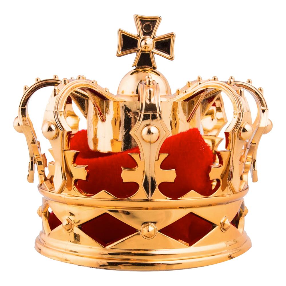 Kungakrona Mini Guld med Hårklämma