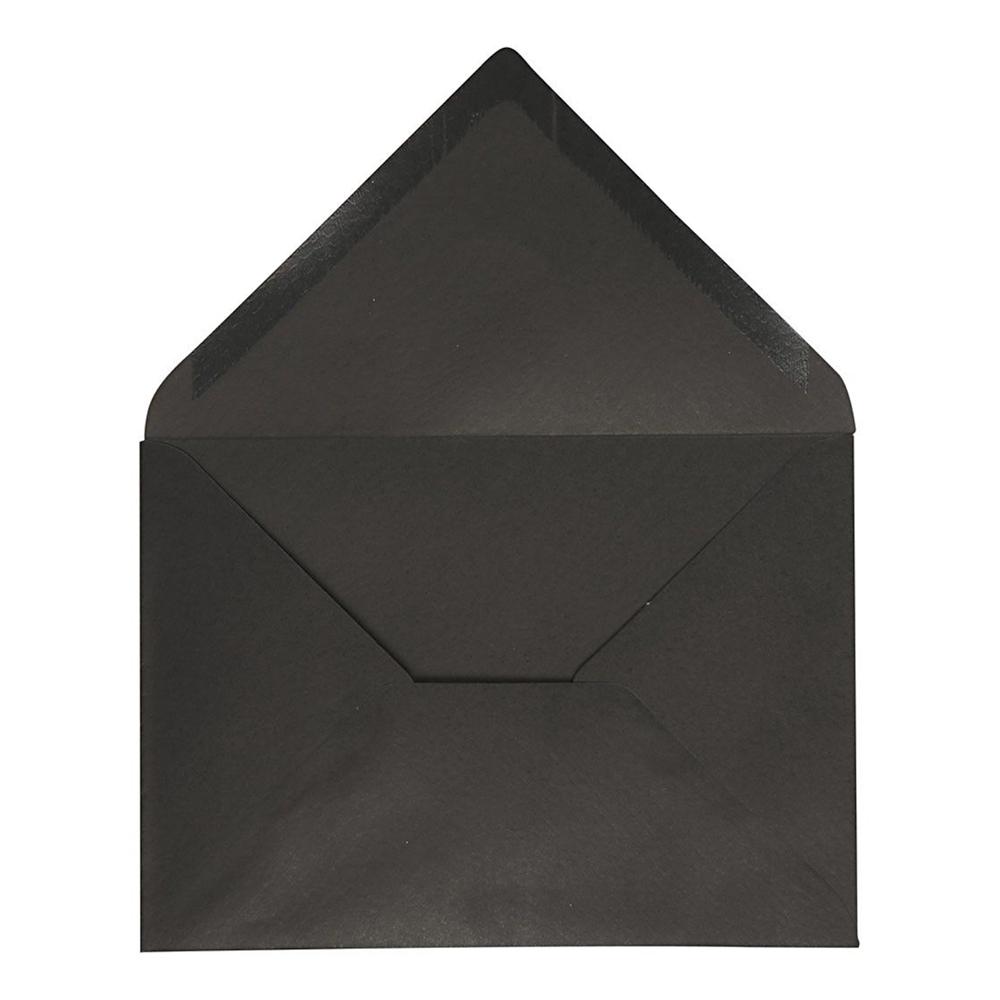 Kuvert Svart - 10-pack