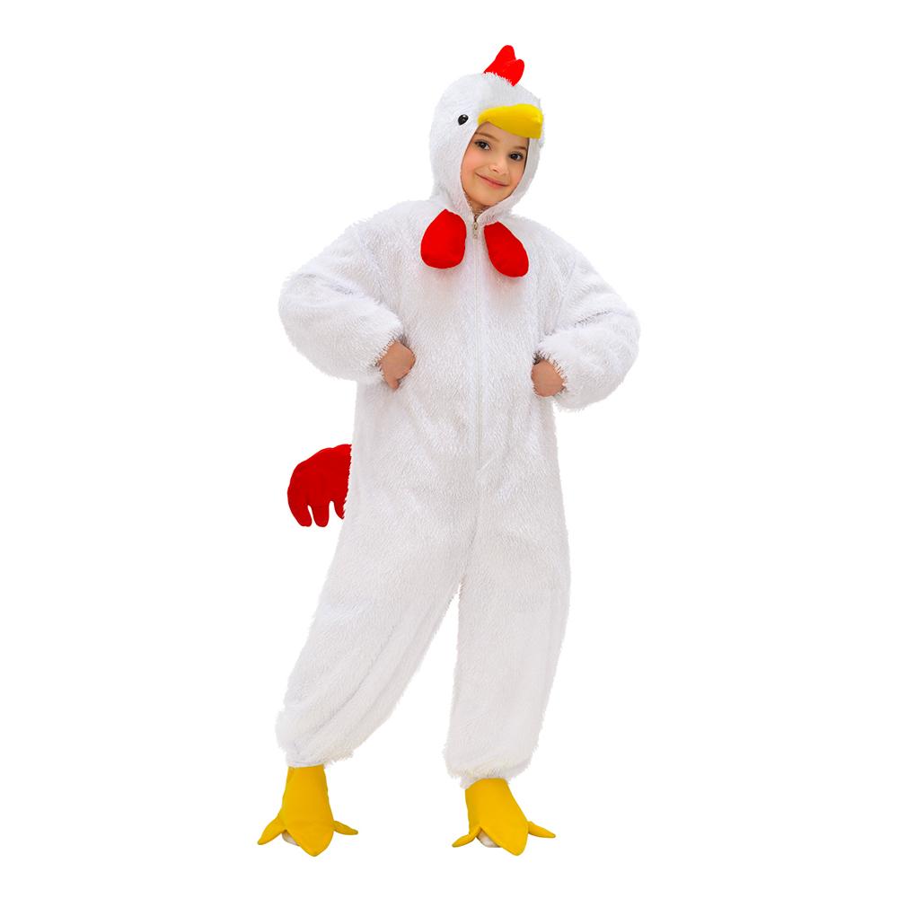 Kyckling Vit Barn Maskeraddräkt - One size