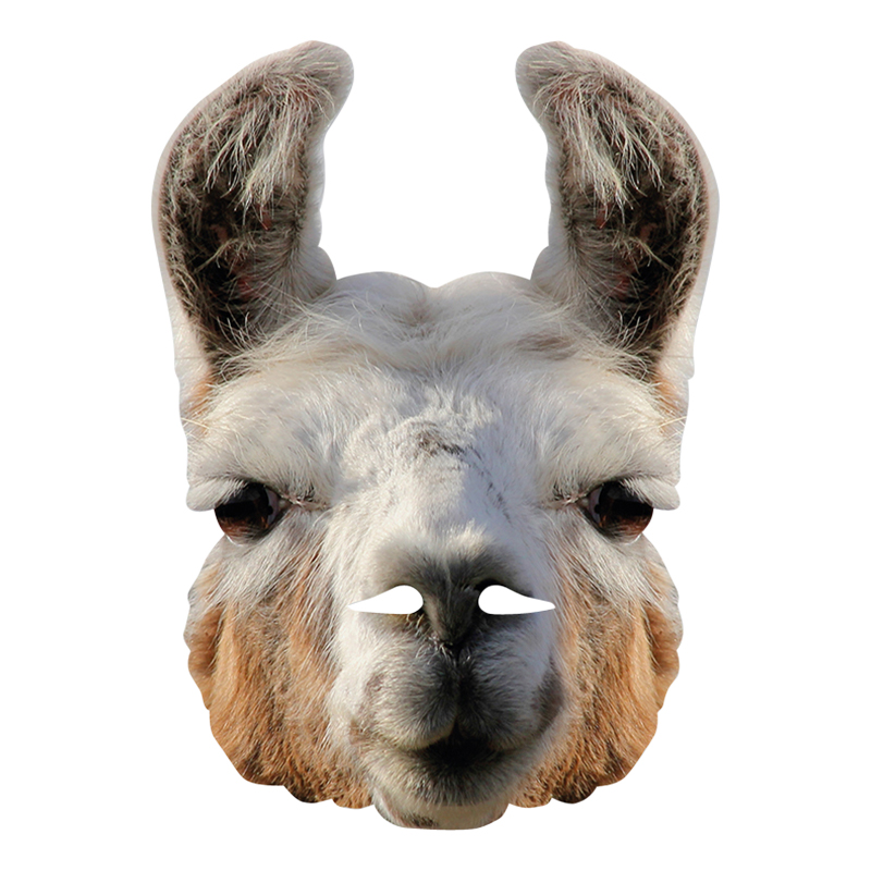 Pappmasker - Lama Pappmask