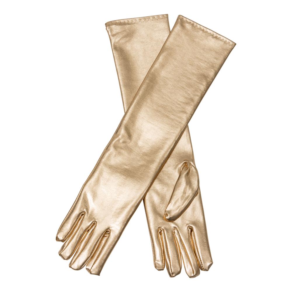 Långa Handskar Guld - One size