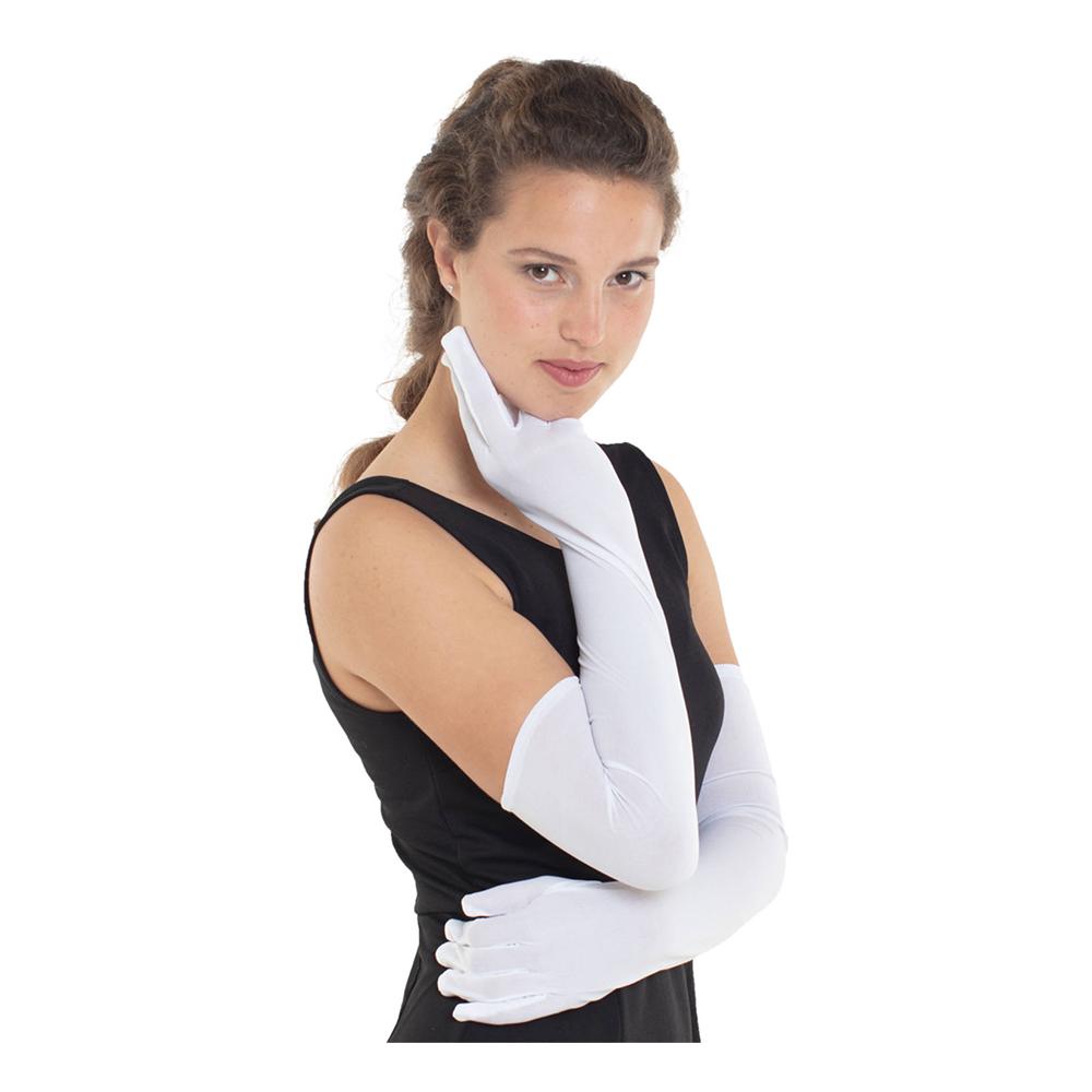 Långa Handskar Vita - One size