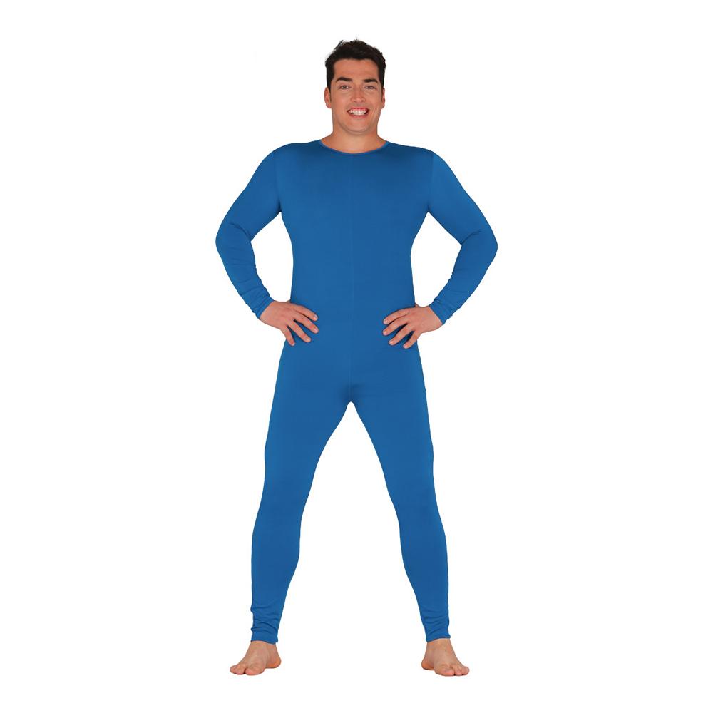 Långärmad Body för Män Blå - One size