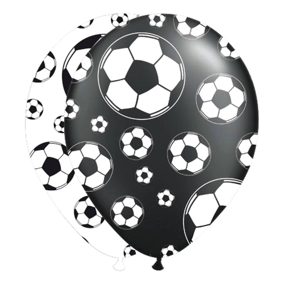 Latexballonger Fotboll Svart/Vit