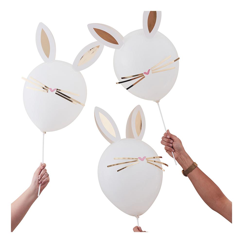 Latexballonger Gör-Din-Egen Påskhare - 5-pack | Hem//Festartiklar//Ballonger//Latexballonger | Partyoutlet