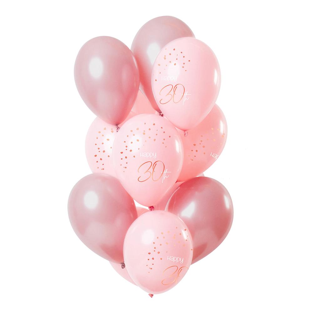 Latexballonger Happy 30th Lush Blush - 12-pack