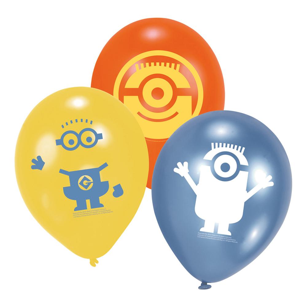 Latexballonger Minions Blandade - 6-pack