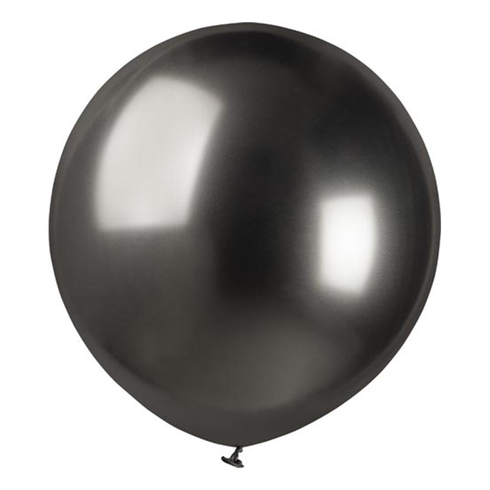 Ballonger Krom Grå Stora - 25-pack