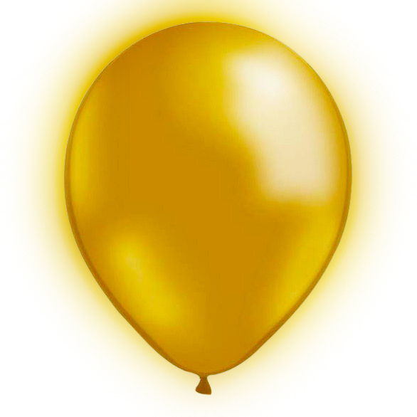 LED-Ballonger Guld - 5-pack