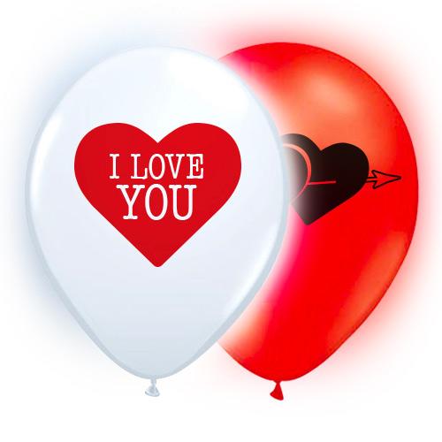 LED-Ballonger I Love You - 5-pack