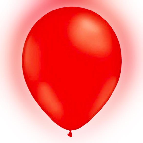 Röda ballonger - LED-Ballonger Röda - 5-pack