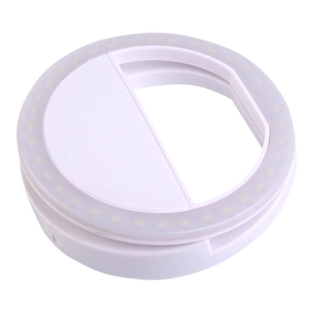 LED Selfie Lampa Mobiltelefon - Vit