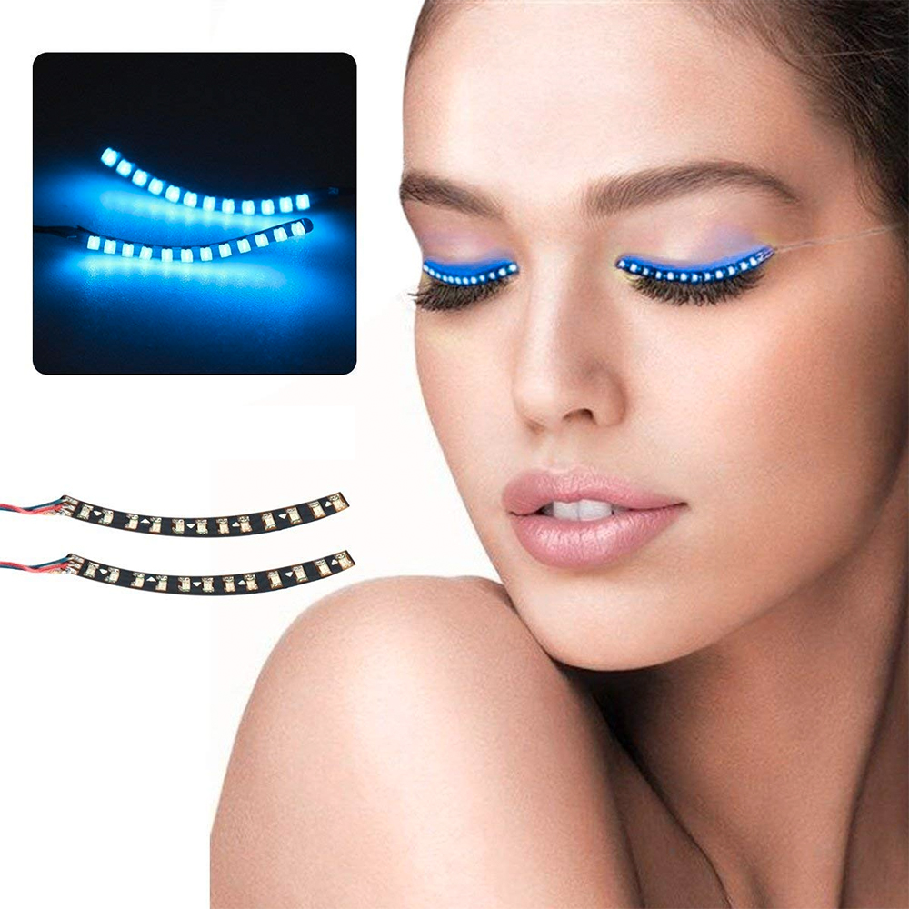 LED Ögonfransar - Blå