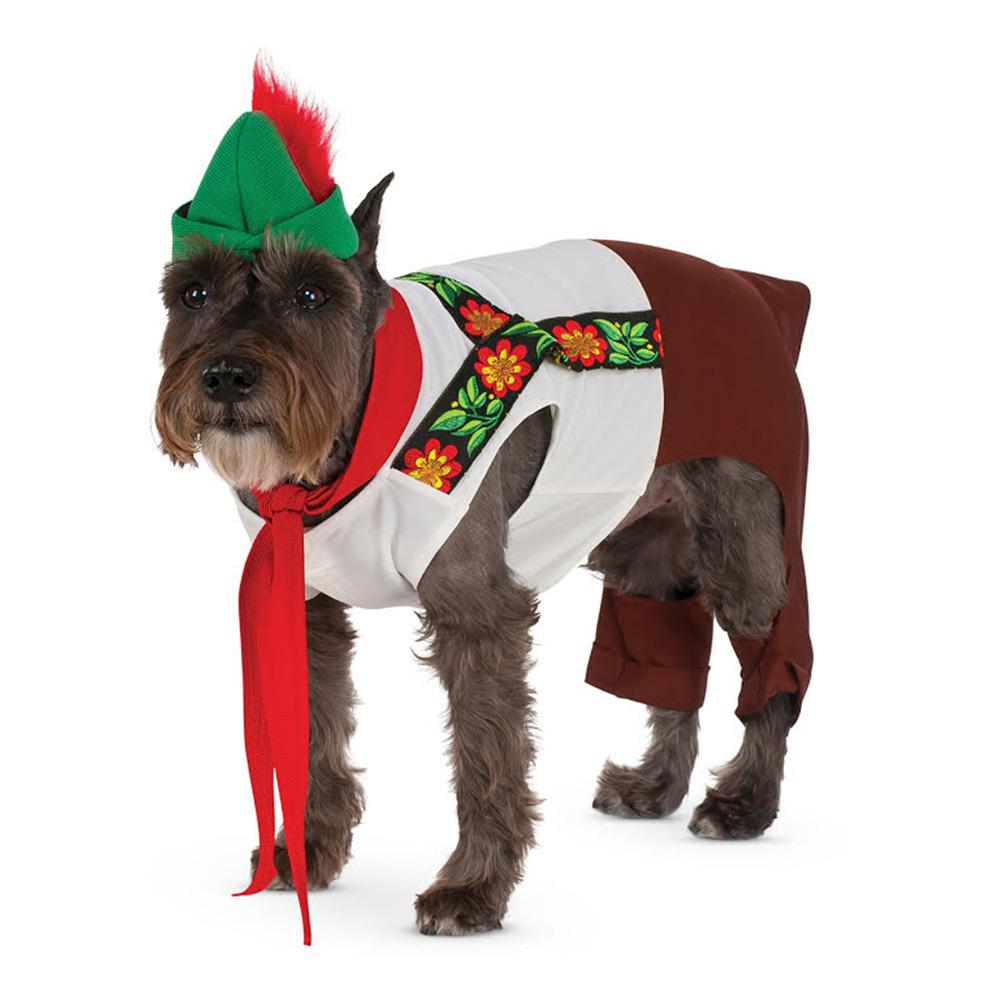 Lederhosen Hund Maskeraddräkt - Medium