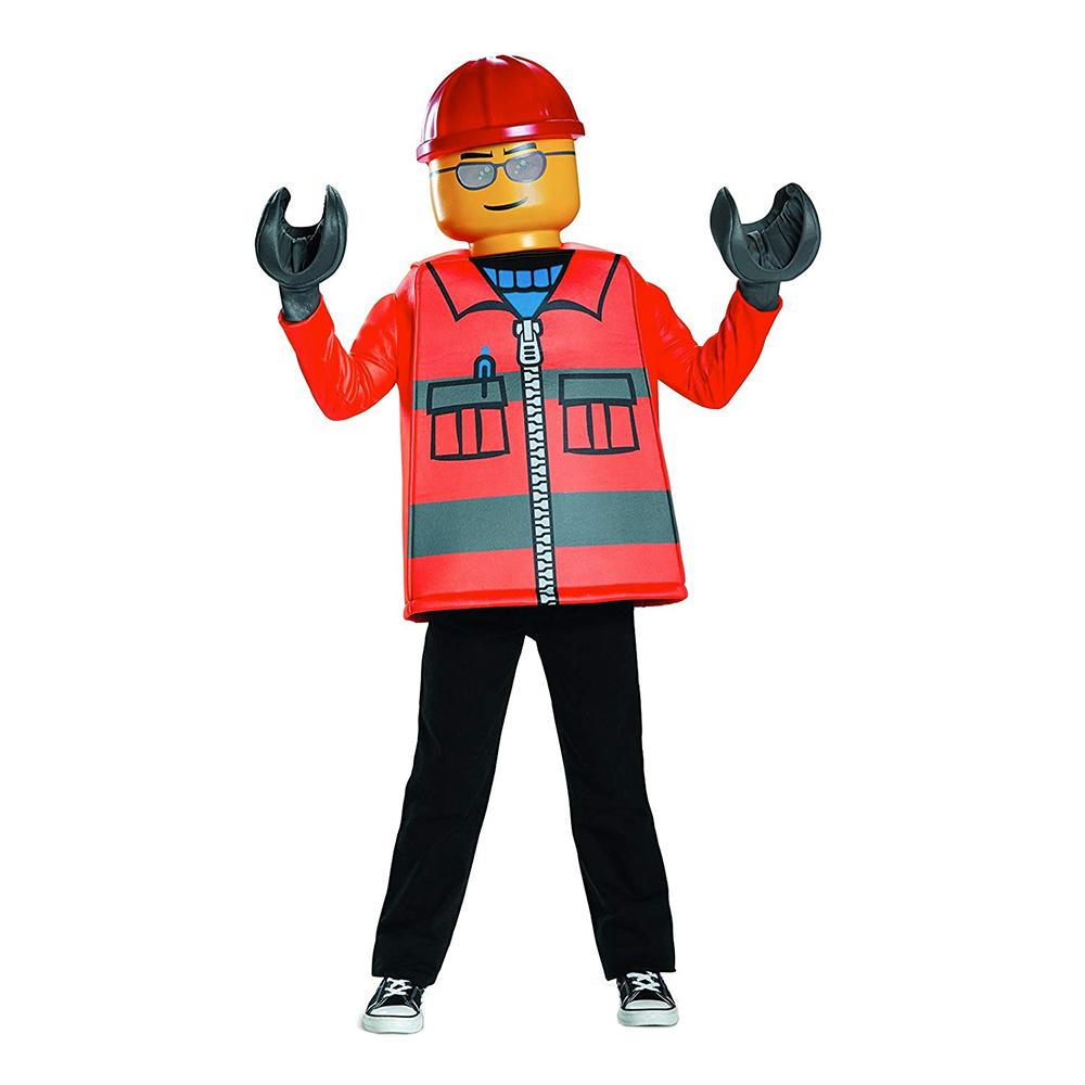 LEGO Byggarbetare Barn Maskeraddräkt - Small
