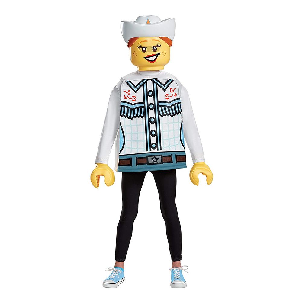 LEGO Cowgirl Barn Maskeraddräkt - Small