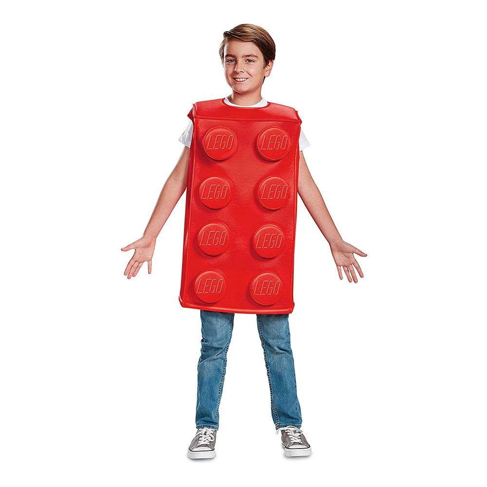 LEGO Kloss Röd Barn Maskeraddräkt - Small