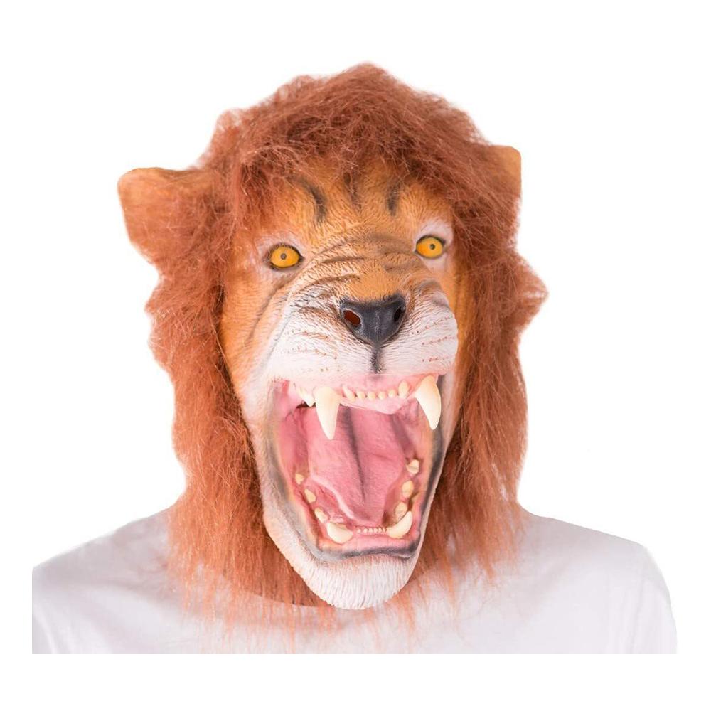 Lejon Mask med Hår - One size