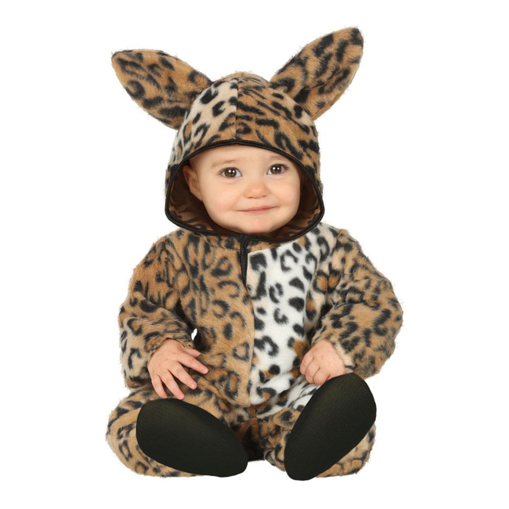 Leopard Bebis Maskeraddräkt - 12-24 månader