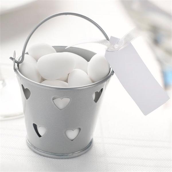 Ljushållare Hjärtan Silver - 5-pack