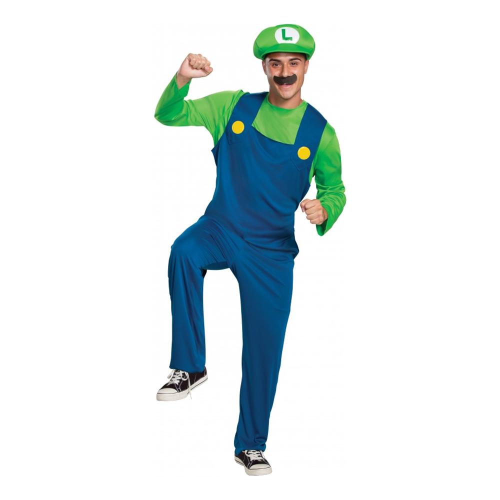 Luigi Maskeraddräkt - Medium