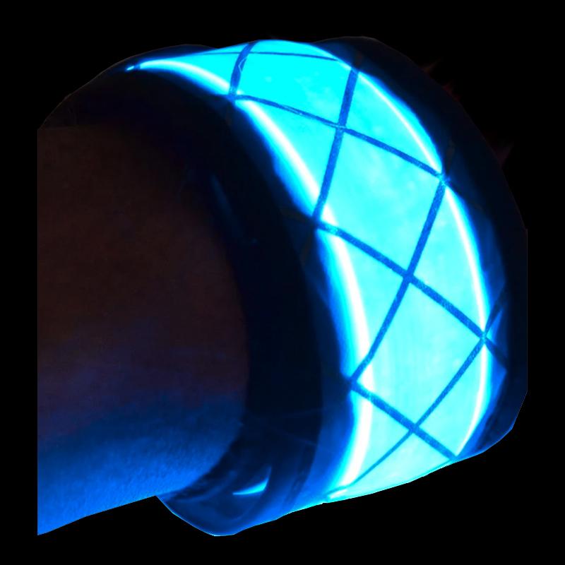 Lysande LED Armband - Blå