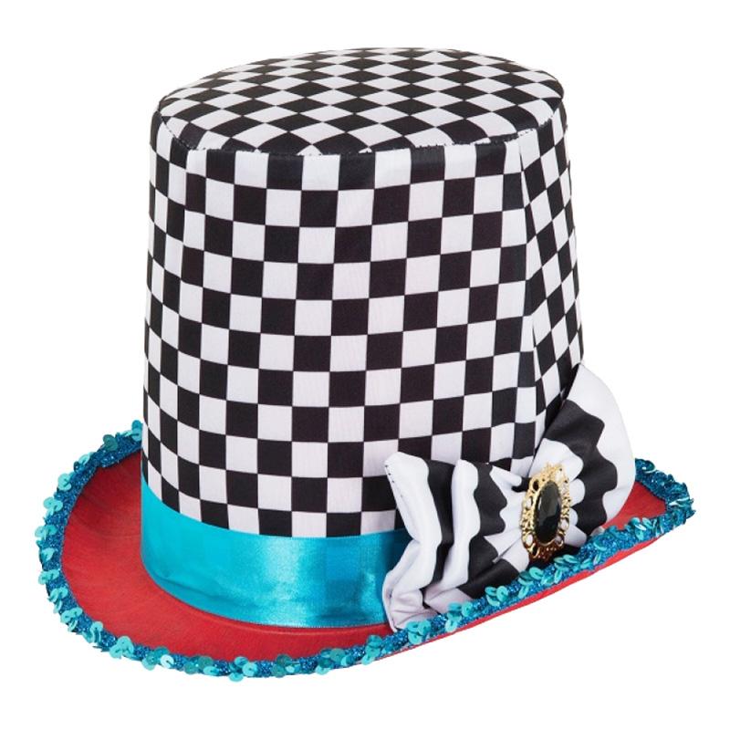 Mad Hatter Schackrutig Hatt - One size