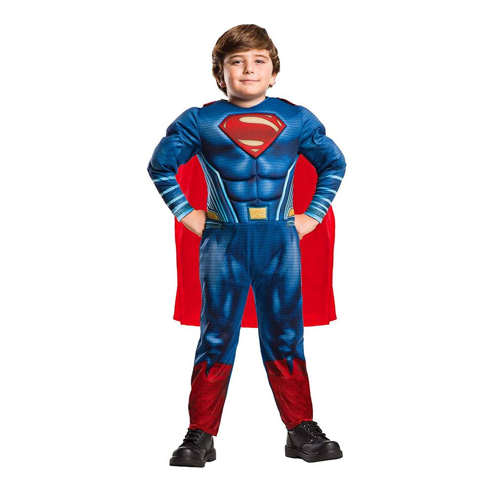 Man of Steel Superman Deluxe Barn Maskeraddräkt - Medium