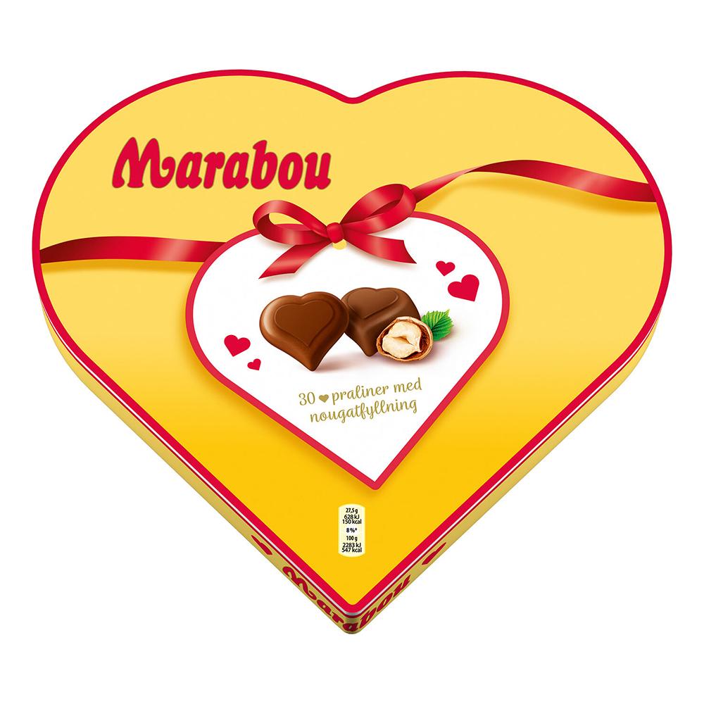 Marabou Chokladask Hjärta - 165 g